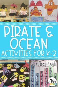Starting an ocean unit or pirate unit in your k-2 classroom? This blog post has a some great ideas for you. Your students will love these pirate themed and ocean themed activities!