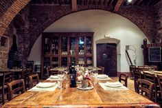 Wedding reception meal ideas from Tuscany > a 12th century convent where you will find a large dining room upstairs