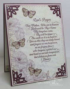 Stamps - Our Daily Bread Designs Lord's Prayer Script, Butterfly and Bugs, ODBD…