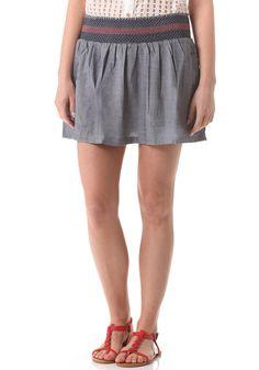 7ccc9468947b1d #planetsports WLD Womens Summer Breath Skirt light denim Logo Sticken,  Wolle Kaufen, Light