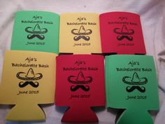Colorful Bachelorette Party Koozies!