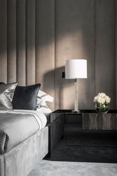 Modern Bedroom Design Inspiration The bedroom is the perfect place at home for relaxation and rejuvenation. While designing and styling your bedroom, Bedroom Design Inspiration, Decoration Inspiration, Design Ideas, Decor Ideas, Design Living Room, Modern Bedroom Design, Home Luxury, Winter Bedroom, Mid Century Modern Bedroom