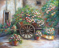 FLORES para la venta una pintura original acrílica