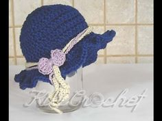 CROCHET How to #Crochet Easy Ladies Spring time Hat #TUTORIAL #199 LEARN CROCHET - YouTube