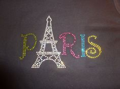 Paris with Eiffel Tower Rhinestone Shirt