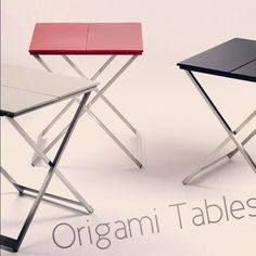 NEWS!!!! ORIGAMI Tables, By MADURA