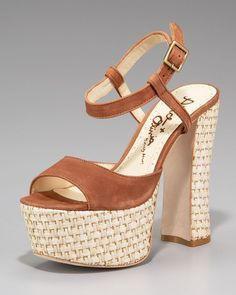 Very 70's summer. Alice + Olivia Thelma Raffia Sandal. http://www.neimanmarcus.com/product.jsp?isEditorial=false=8=cat40360738=prod141920064=cat000000cat000001cat000009cat000059cat40360738cat40360737=cat40360737