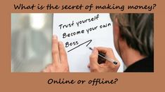 What Is The Secret Of Making Money Online Or Offline? You can not become a #millionaire with a minimum wage #attitude #Secret #Makemoneyonline Make Money Online, How To Make Money, How To Become, What Is The Secret, Become A Millionaire, Minimum Wage, Go Getter, Starting Your Own Business, Be Your Own Boss