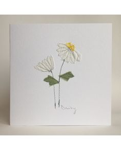 Embroidery Cards, Free Motion Embroidery, Simple Embroidery, Applique Embroidery Designs, Machine Embroidery, Applique Patterns, Fabric Postcards, Fabric Cards, Paper Cards