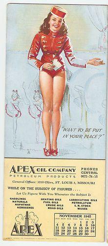 1945 Munson Artist Pin Up Girl Belle Hop