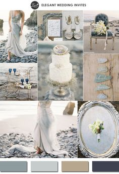 neutral colors glacier gray 2015 spring wedding colors trends #elegantweddinginvites