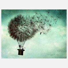 dandelion hot air balloon