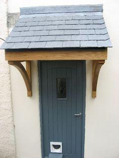 oak and slte flat roof canopy - Google Search