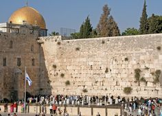 The only remaining part of the Temple of Jerusalem, the so-called Wailing Wall, or Western Wall. Description from i-cias.com. I searched for this on bing.com/images
