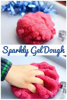Sparkly gel dough simple and squidgy playdough recipe for sensory play