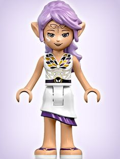 LEGO Elves: Aira the Wind Elf Minidoll. Currently included in the following sets(1) Aira's Creative Workshop (41071) & (2) Naida's Epic Adventure Ship (41073).  Another set due to release in August 2015 will include her and the pegasi coach from the mini video story