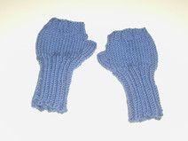 Blaue   Handstulpen für Babys