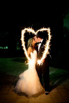 Sparkler Wedding Pho
