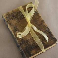 Antique wedding ring bearer book at The Entertaining Shoppe
