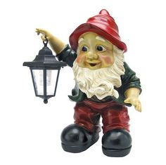 Edison with the Lighted Lantern Garden Gnome Statue        I so want him!!!
