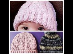 529ed7774f8 DIY How to Knit Beanie Hat | Πλεκτός σκούφος για μικρούς & μεγάλους |  Вязание