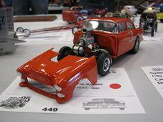 1957 Chevy Bel Air, Plastic Model Cars, Funny Cars, Car Engine, Model Kits, Car Humor, Model Pictures, Car Car, Scale Models