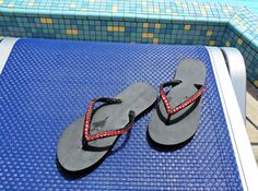 Vacation! Love the Red Crystal Fancy Flip flops