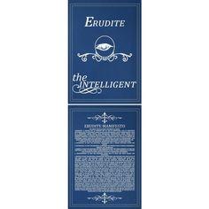 Erudite Manifesto I am Divergent ❤ liked on Polyvore featuring divergent