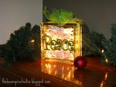 The Bean Sprout Notes: Glass Christmas Light Gift Boxes - 2012