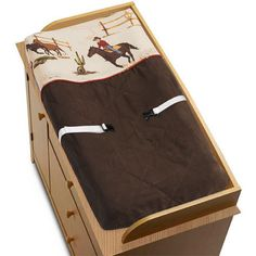 SWEET JOJO CHANGING TABLE PAD COVER FOR WILD WEST COWBOY HORSE BABY BEDDING SET
