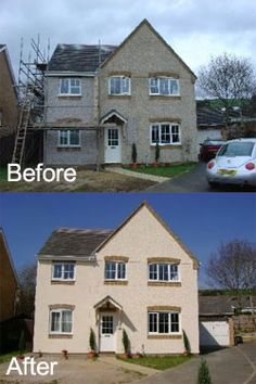 Painting pebbledash and Tyrolean masonry walls? read about the methods used to paint pebbledash on a house and why external wall coatings are a better option.