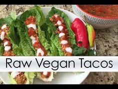 Savory Raw Vegan Tacos With Mango Salsa - Low Fat - rawsynergy