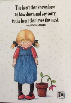 The Heart That Knows How To Bow Down-Mary Engelbreit Artwork Magnet