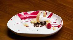 Yoghurt Sorbet with Beetroot Curd and Cardamom Tuile - Masterchef Masterchef Recipes, Masterchef Australia, Cardamom Powder, Dessert Spoons, Pastry Brushes, Beetroot, Sorbet, Tray Bakes, Allrecipes