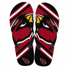 Kick up your heels and show some team spirit! Enjoy game day, or any day, in these Arizona Cardinals NFL Unisex Big Logo Flip Flops. Az Cards, Arizona Cardinals Football, Flip Flops, Kicks, Football Stuff, Unisex, Logos, Big, Red Black