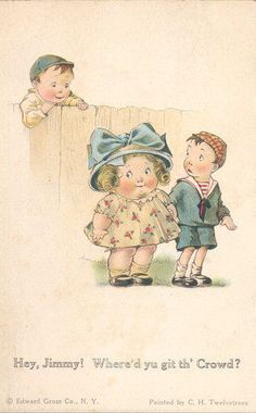 BOY and CHILD LOVERS FINE OLD postcard TWELVETREES