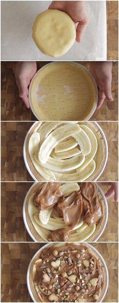 Torta de Banana com Doce de Leite, SUPER DELICIOSA! (veja a receita passo a passo) #torta #tortadebanana #bananacomdocedeleite