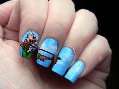 Robin Hood nails by Toxic Vanity, via Flickr