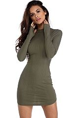 Olive Thumbs Up Bodycon Dress