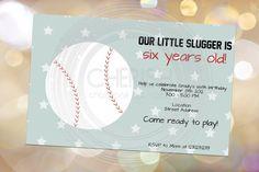 Baseball Party  25 Birthday Party Invitations by CherishByNoel, $23.00