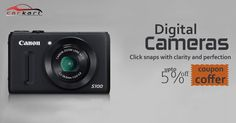 Enhance your photography with some of the best digital cameras. We provide DSLR and SLR digital cameras from eminent brands. Find digital camera sale at carkart.com and get the best #camera online at affordable price. Use Coupon Code & Get 5% OFF on any Products.