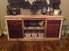 Barnwood Entertainment Center, console, tv stand, reclaimed, rustic, prim, shabby, chic, slats, iron, wrought, barn, wood, western, industrial