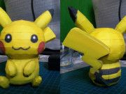 Pokemon - Pikachu Ver.9 Free Papercraft Download