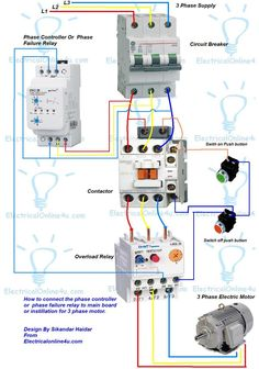 contactor wiring guide for 3 phase motor with circuit breaker forward reverse electric motor wiring diagram wiring diagram for motor starter 3 phase controller failure relay electrical pleasing three and contactor