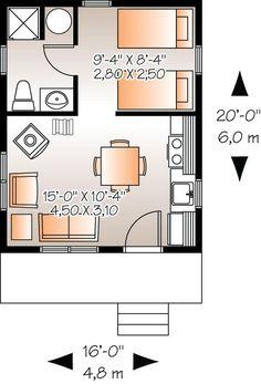 1 piso, 1 baño, 1 dormitorio