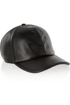Neil Barrett Leather and mesh baseball cap | NET-A-PORTER