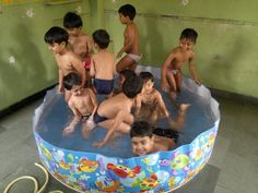 Small Portable Swimming Pool Idea For Indoor emergency water, In a area like in the basement, carport so on not for drinking.