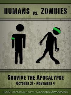 Urban Gaming Club - Humans vs. Zombies