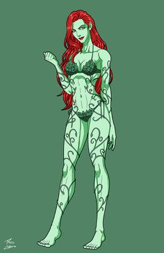 Summertime Poison Ivy (Earth-27) commission by phil-cho.deviantart.com on @DeviantArt - More at https://pinterest.com/supergirlsart #fanart