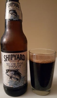 Shipyard Blue Fin (Irish Dry) Stout is 4.7 ABV. The appearance is virtually black with a mild roasty malt nose. The flavor follows, roasted malt, some faint chocolate and coffee, with licorice notes throughout. The overall mouthfeel and texture are mild and smooth but crisp enough. At this abv it's technically sessionable. Maybe not my favorite to come out of Shipyard but solidly good and worth trying.